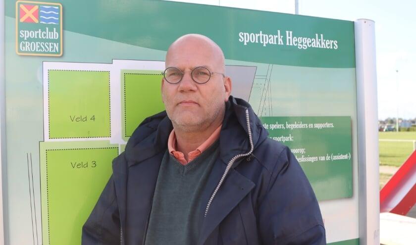 Marnix Arentsen trotse nieuwe voorzitter van Sportclub Groessen